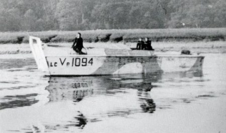 Three Wrens in an LCVP on the Beaulieu River. Janet Prentice in Requiem often travels in these craft. The LCVP carried one vehicle or 36 men and were fast. The crew was a Wren Petty Officer Coxswain and 2 Wrens. http://www.nevilshute.org/PhotoLine/PLD-1941-1950/pl-1941-1950-02.php