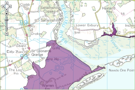 Environment Agency Flood Alert map issued on January 2nd at 17.03